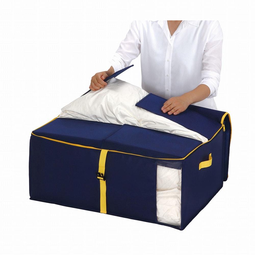 コンパクトにスッキリ納まる布団収納袋 M・同色2個組