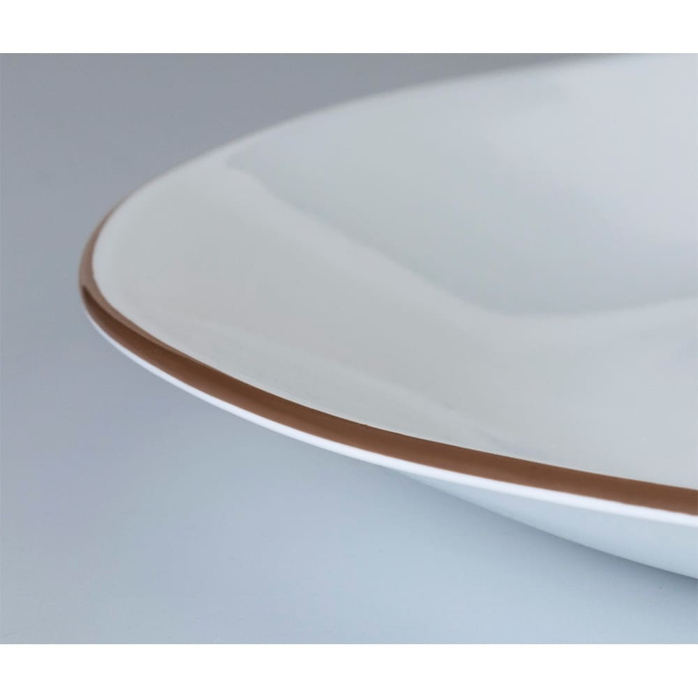 CORELLE/コレール タフホワイト皿2サイズ4枚セット ブラウン
