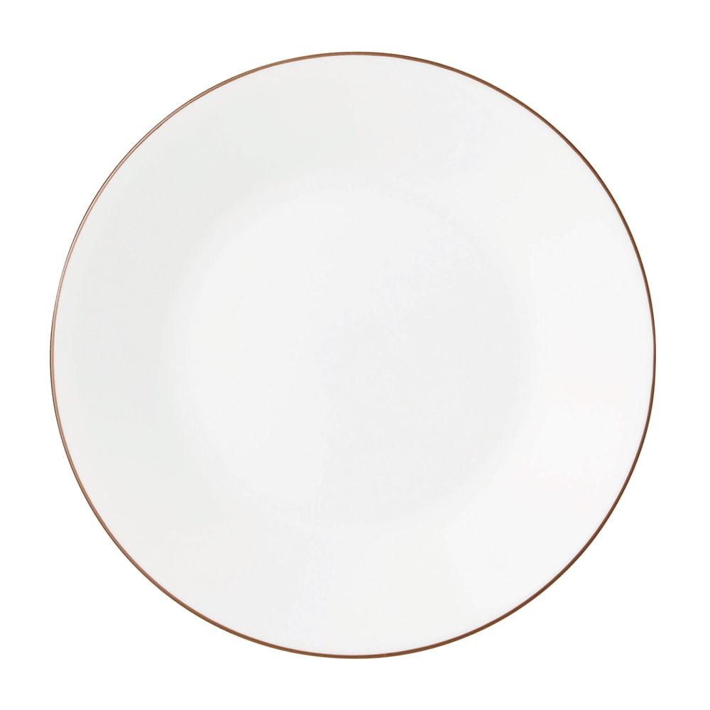 CORELLE/コレール タフホワイト皿2サイズ4枚セット ブラウン 小皿…径17cm