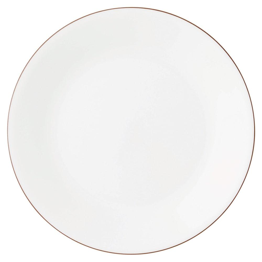 CORELLE/コレール タフホワイト皿2サイズ4枚セット ブラウン 中皿…径21.5cm