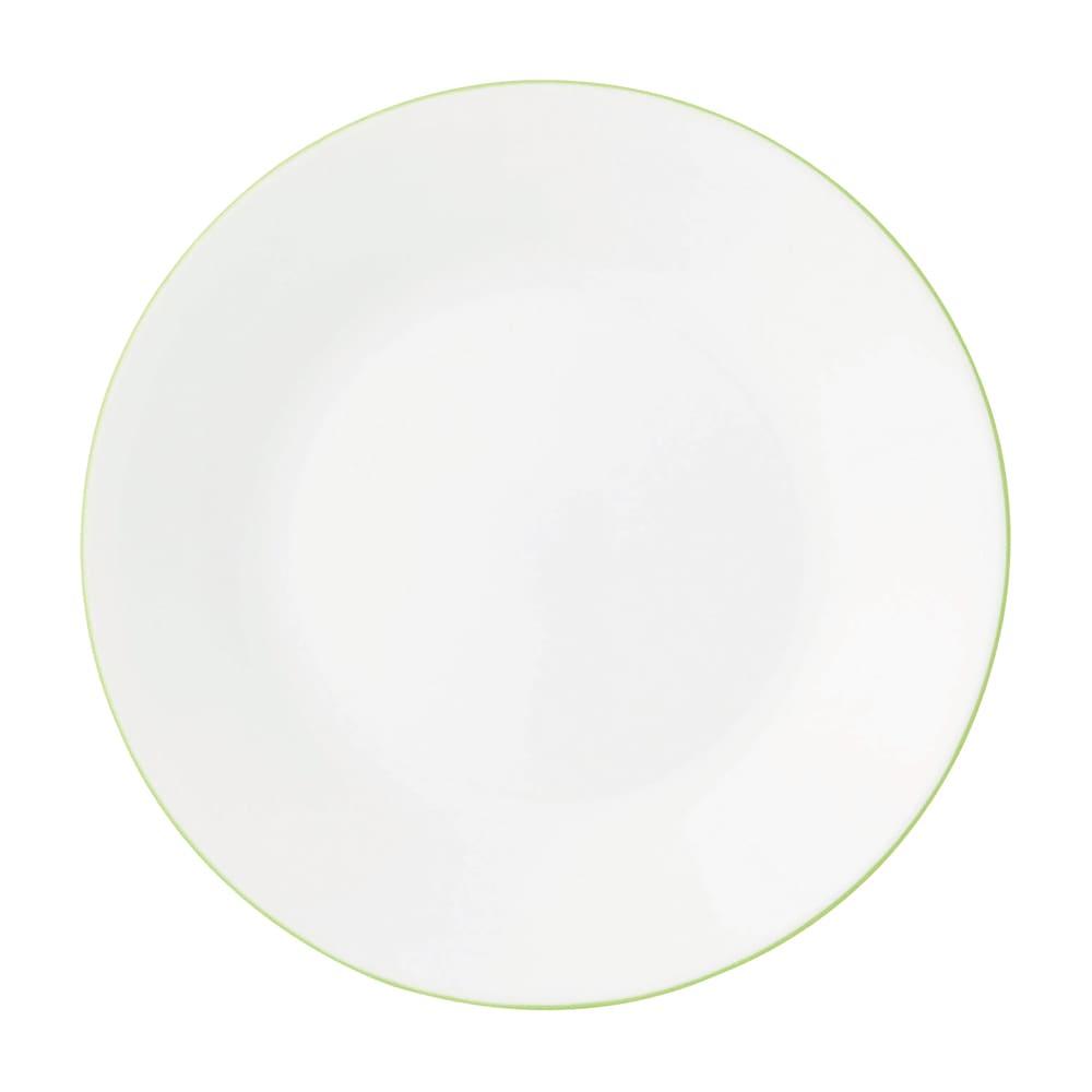 CORELLE/コレール タフホワイト皿2サイズ4枚セット グリーン 小皿…径17cm