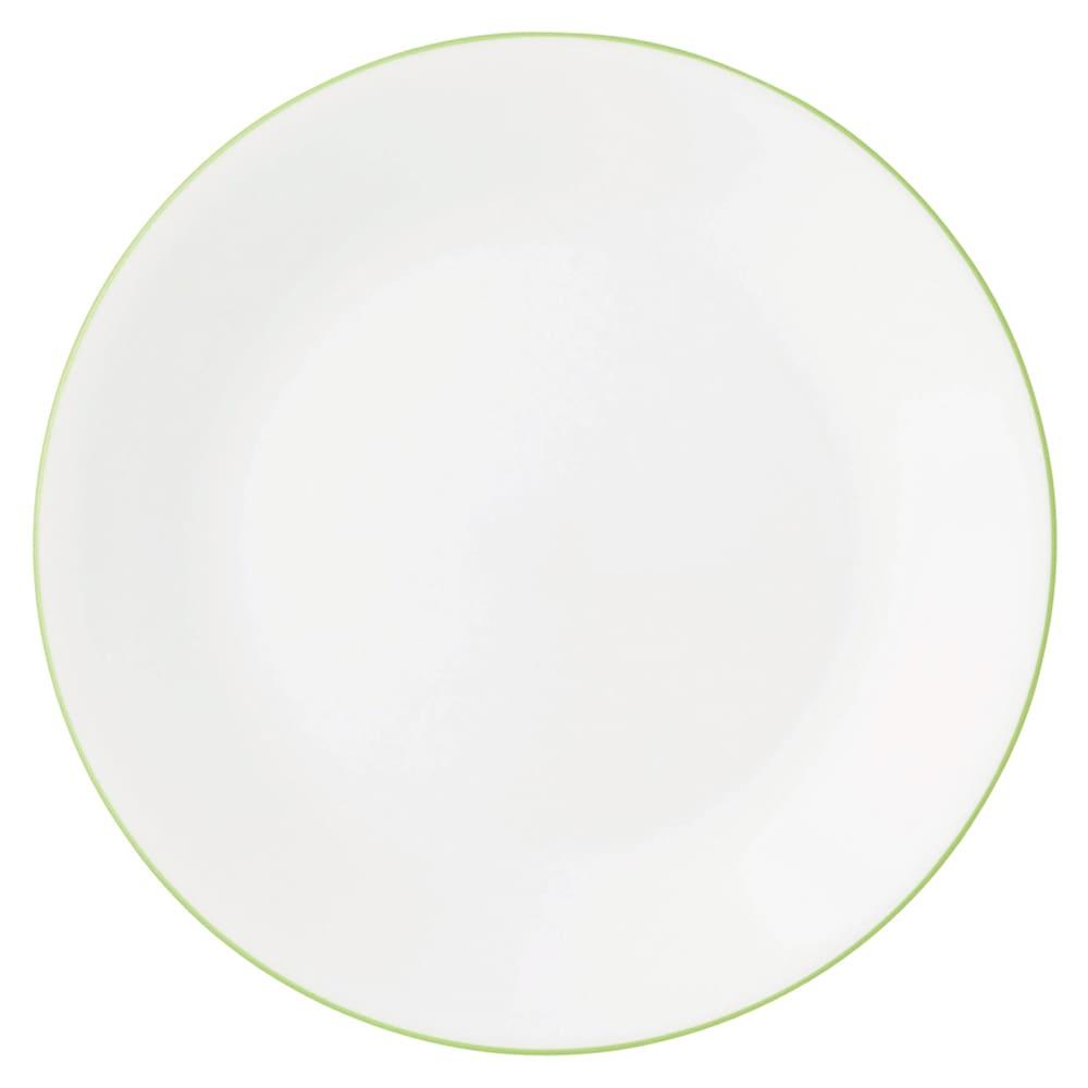 CORELLE/コレール タフホワイト皿2サイズ4枚セット グリーン 中皿…径21.5cm