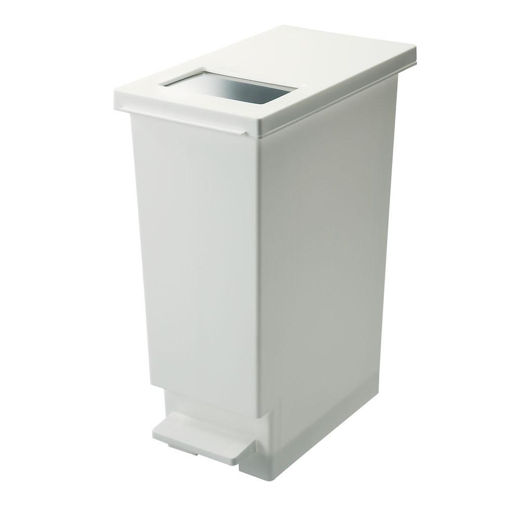 プッシュ&ペダルダストボックス 同色2個組 (ア)ホワイト
