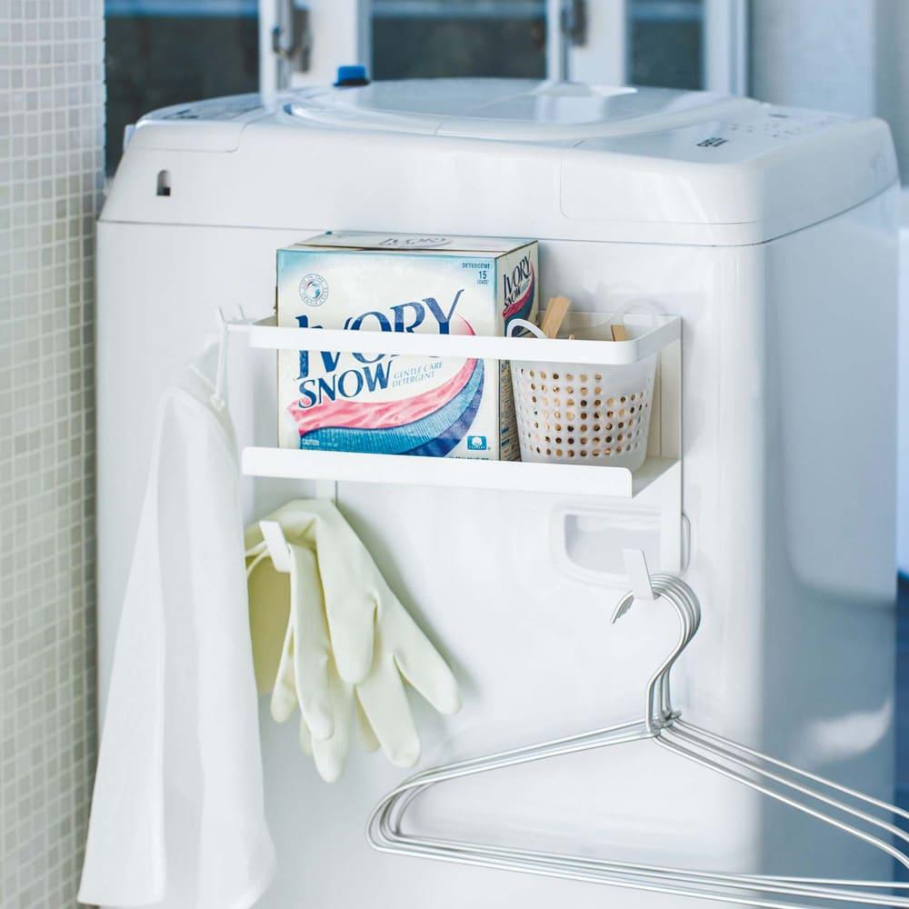洗濯機マグネットホースラック洗剤ボトル付