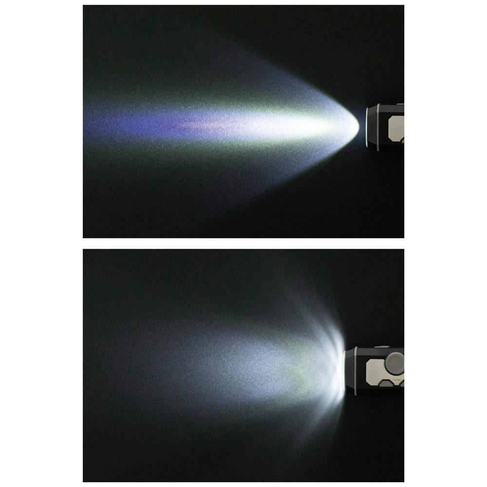 小型ポータブルマルチライト ライトは近・遠の切り替えが可。