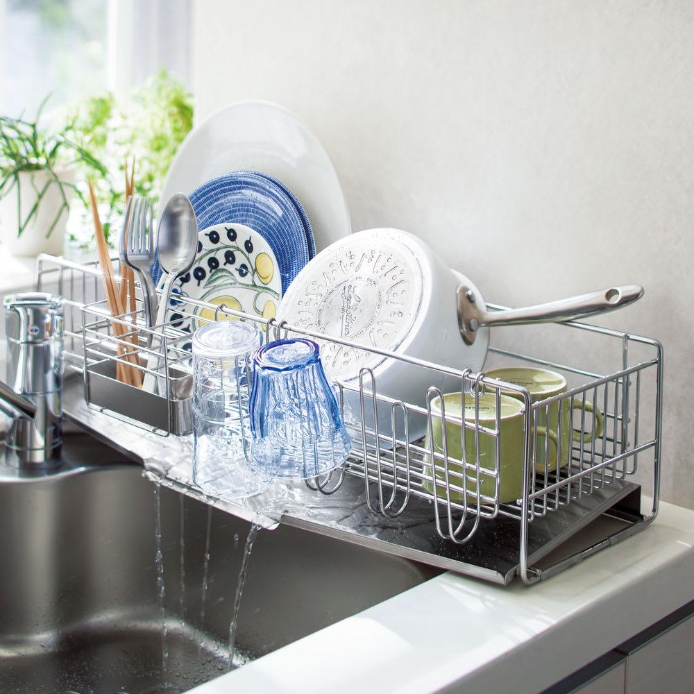 狭い キッチン 水切り