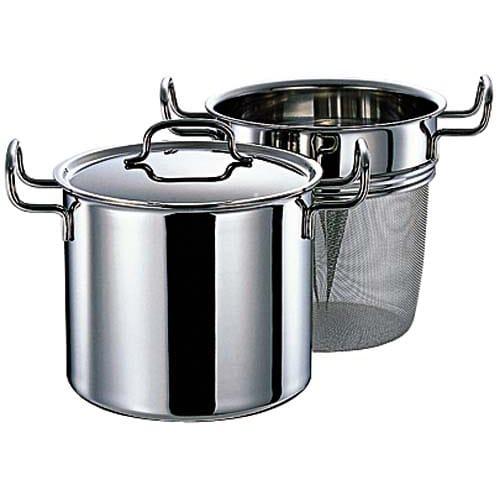 IH対応 服部先生のステンレス7層構造鍋「ジオ」 パスタポット径21cm 750839