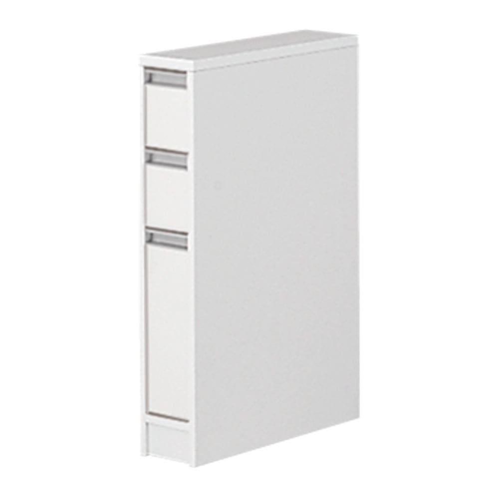 天板が使える すき間収納庫 ロータイプ・幅15cm 洗面所の微妙なすき間にぴったりの収納家具です。