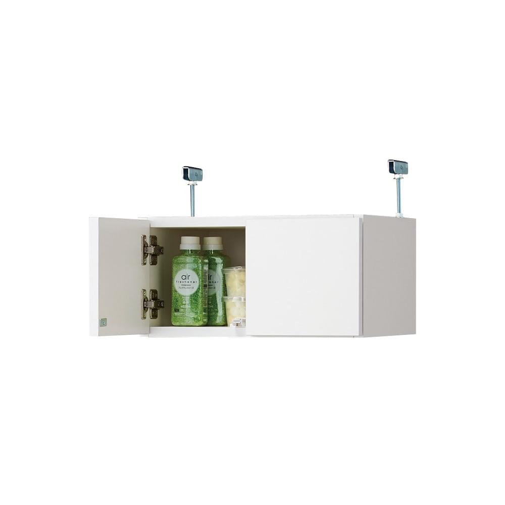 組立不要 天井まで使える薄型サニタリーチェスト 奥行31.5cmタイプ 幅40cm用「上置き(小)・高さ20cm」 こちらの商品は【奥行31.5cmタイプ 幅40cm用「上置き(小)・高さ20cm」】です。