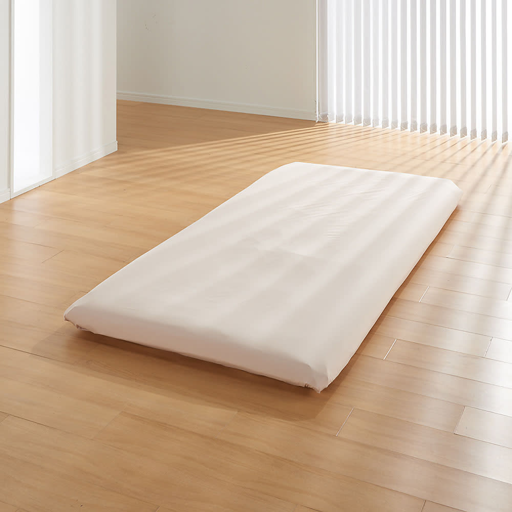 アンチストレス(R) 敷布団カバー カバー&シーツ 汚れやすいカバーにも清潔機能が重宝します。速乾だから気軽に洗濯OK!