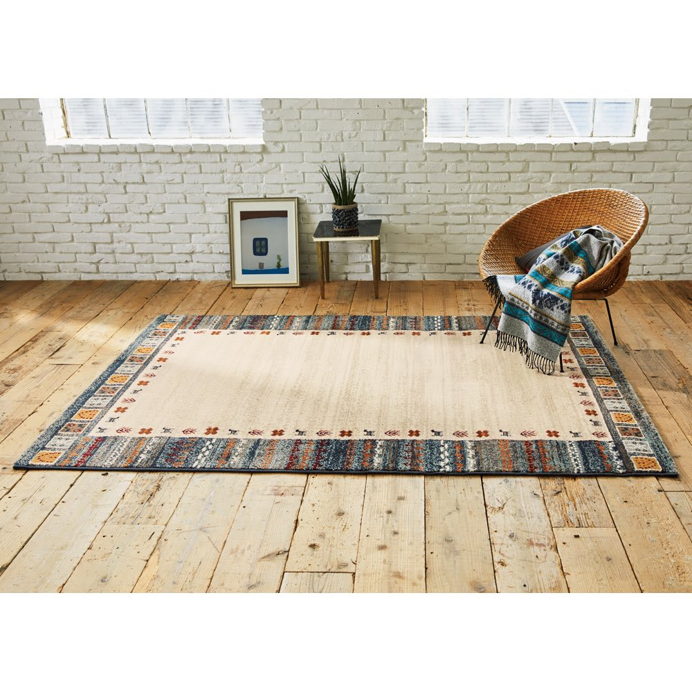 約160×235cm(エジプト製ウィルトン織りラグ〈ラピス〉) 759730