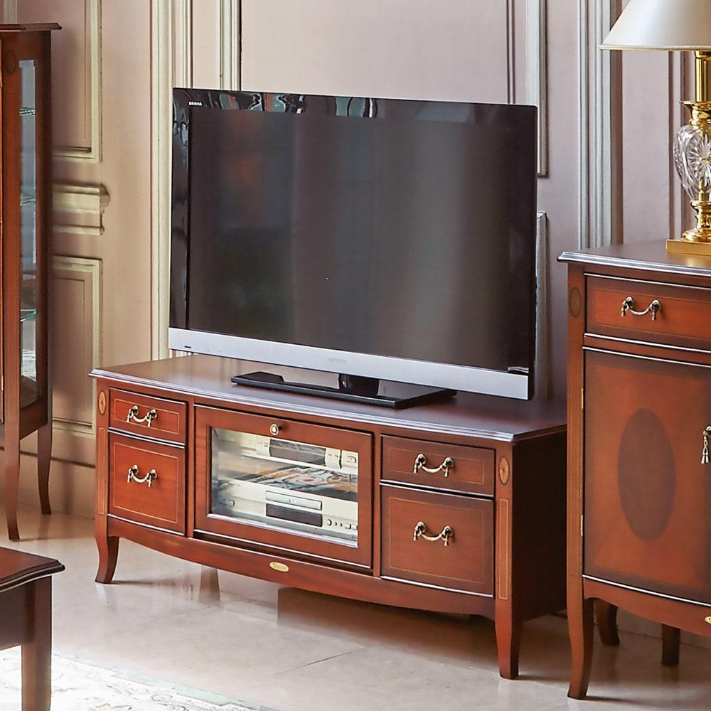 ベネチア調象がんシリーズ テレビ台・幅120cm 使用イメージ