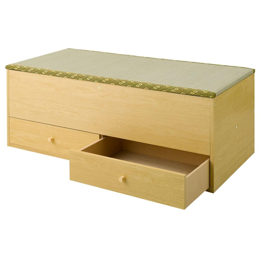 ユニット畳シリーズ 1畳引出し付き 高さ45cm (イ)ライトブラウン