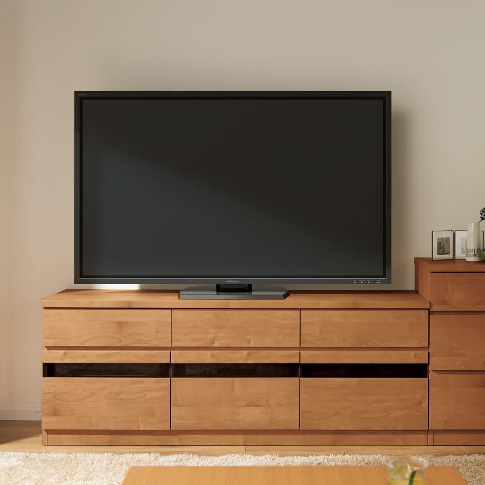 天然木調テレビ台シリーズ ハイタイプテレビ台 幅159.5高さ60cm 762122