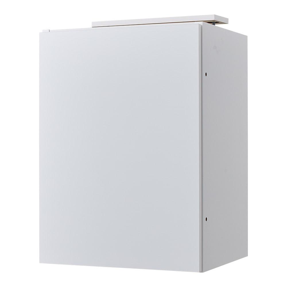 スイッチ避け壁面収納シリーズ 高さオーダー対応突っ張り上置き 奥行40cm 幅45cm・高さ61~80cm(1cm単位オーダー) (ア)ホワイト