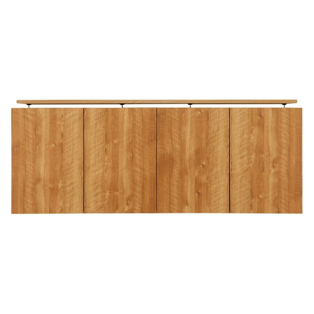 天然木調リビング壁面収納シリーズ オーダー対応突っ張り式上置き(1cm単位) 幅155cm・高さ26~90cm
