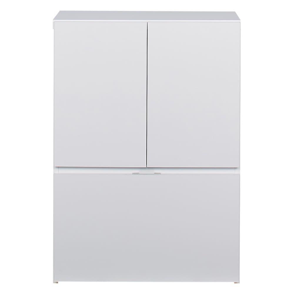 想いを集める 推し活グッズ収納庫  扉 ロー 幅60cm ホワイト。
