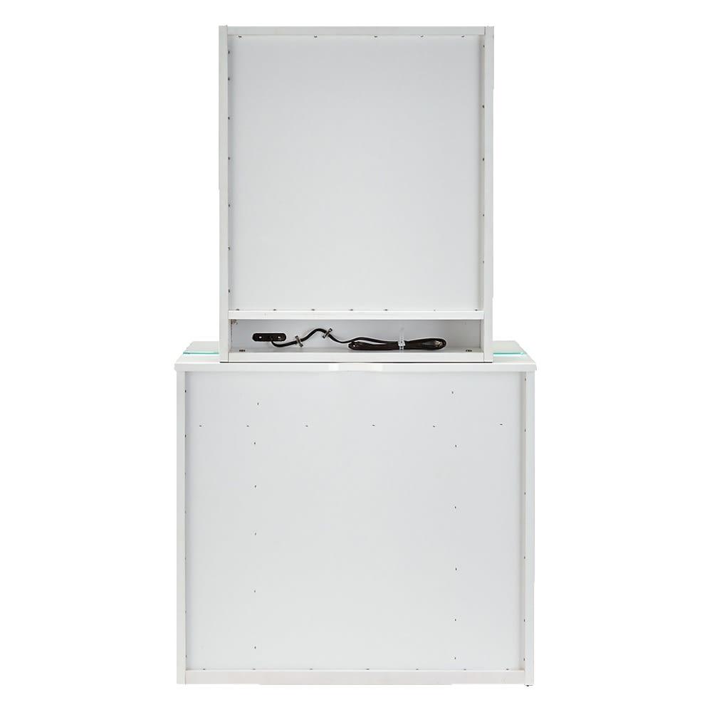 3面鏡ドレッサーシリーズ ドレッサー(スツール付き) 幅60cm 背面