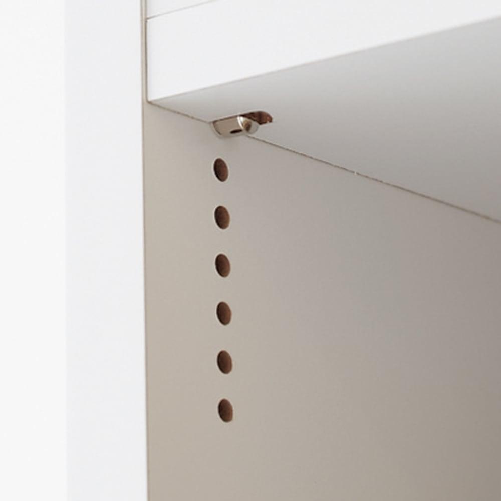 組立不要!52サイズ・3色の156タイプから選べる頑丈すき間ワゴン 幅33奥行55cm 収納物に合わせ1cmピッチで棚板を細かく調節可能。
