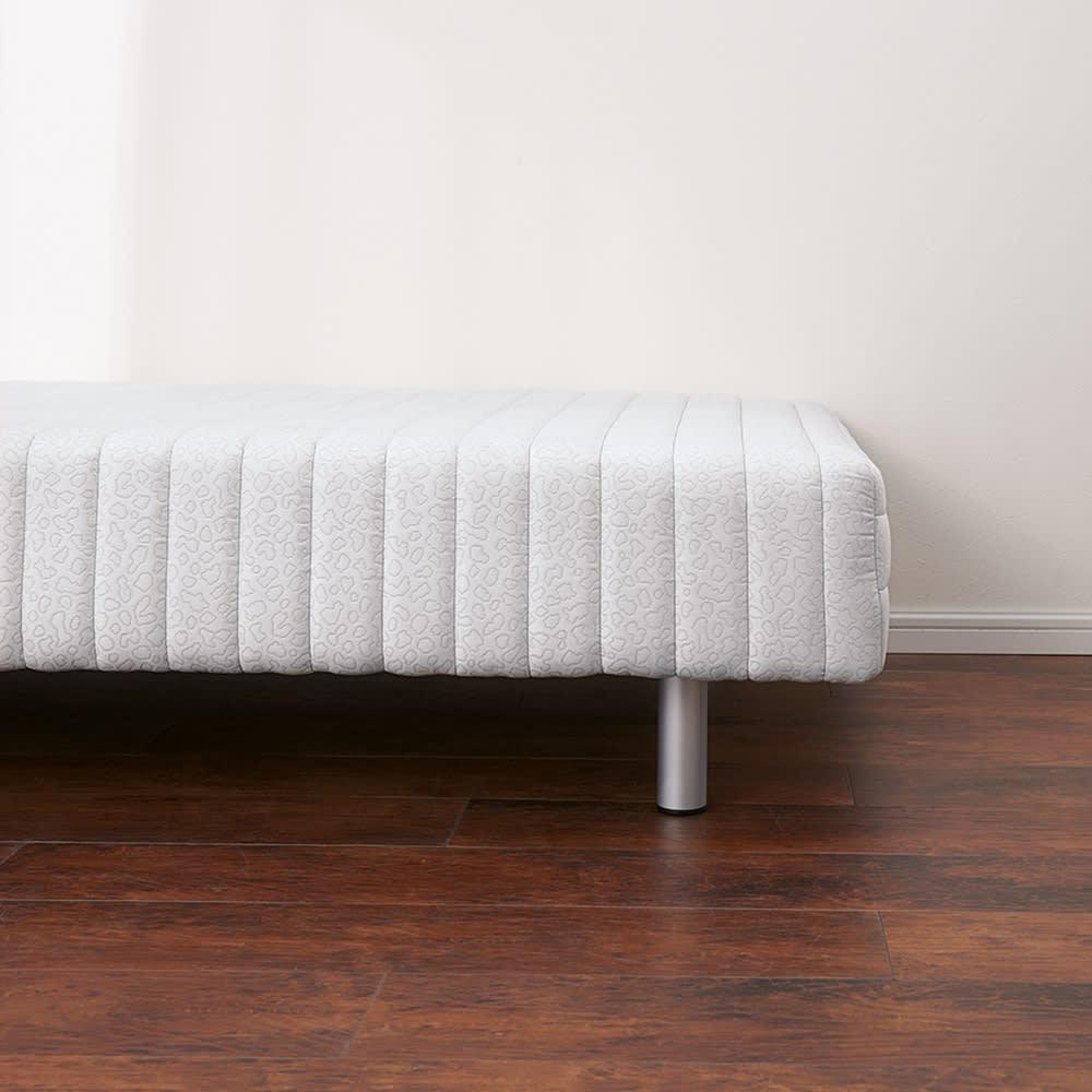 France Bed/フランスベッド 軽くて丈夫な脚付きマットレスベッド ※写真はミドルタイプ・脚高15高さ37.5cmです。