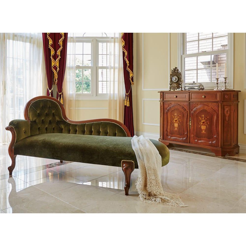 イタリアン家具シリーズ 象がんサイドボードキャビネット・幅124cm (使用イメージ)