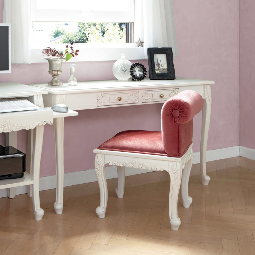 アンティーククラシックシリーズ アンティーク風コンソールテーブル(机) 猫脚を生かした可愛いらしいインテリアにもぴったり。※お届けはコンソールデスクです。