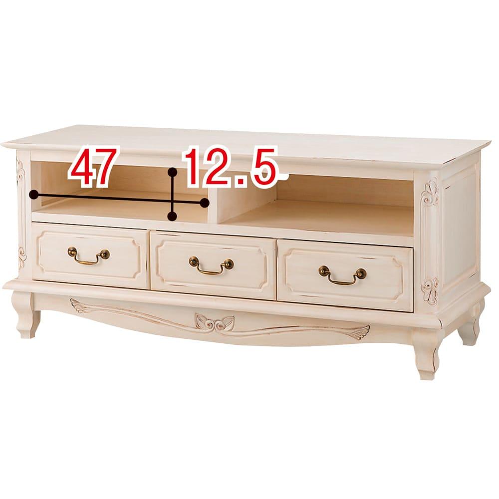 アンティーク調クラシック家具シリーズ テレビ台・幅113cm ※赤字は内寸(単位:cm)