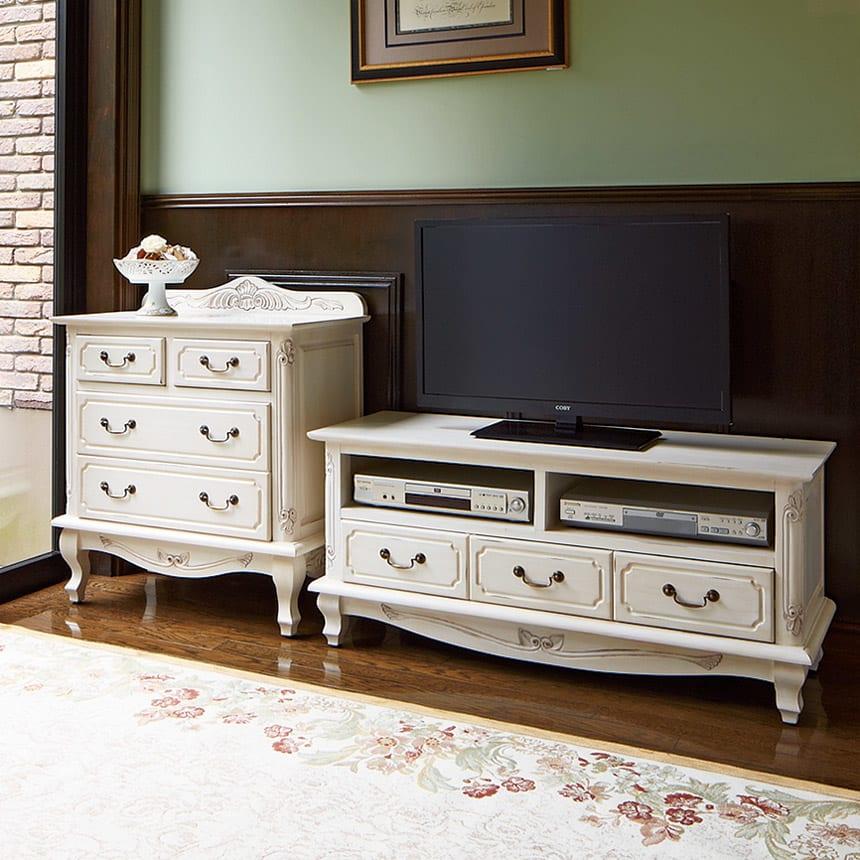 アンティーク調クラシック家具シリーズ テレビ台・幅113cm コーディネート例
