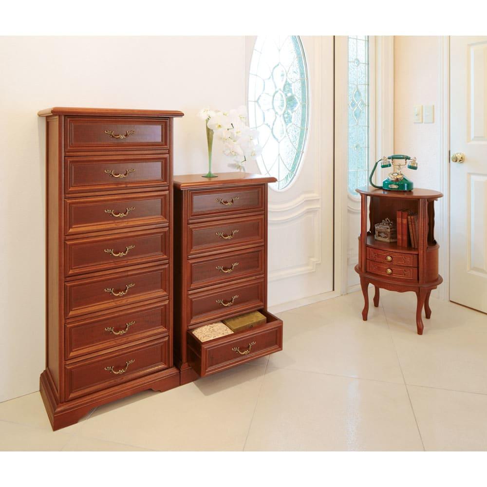 イタリア製 コンパクト収納家具シリーズ 薄型5段チェスト コンパクトなので省スペースで収納を増やすことができます。
