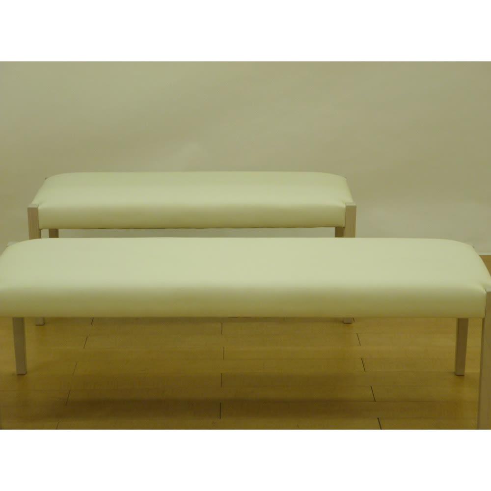光沢が美しい 伸長式 モダン ダイニングシリーズ ベンチ 小 ベンチ小(幅110cm)、ベンチ大(幅140cm)