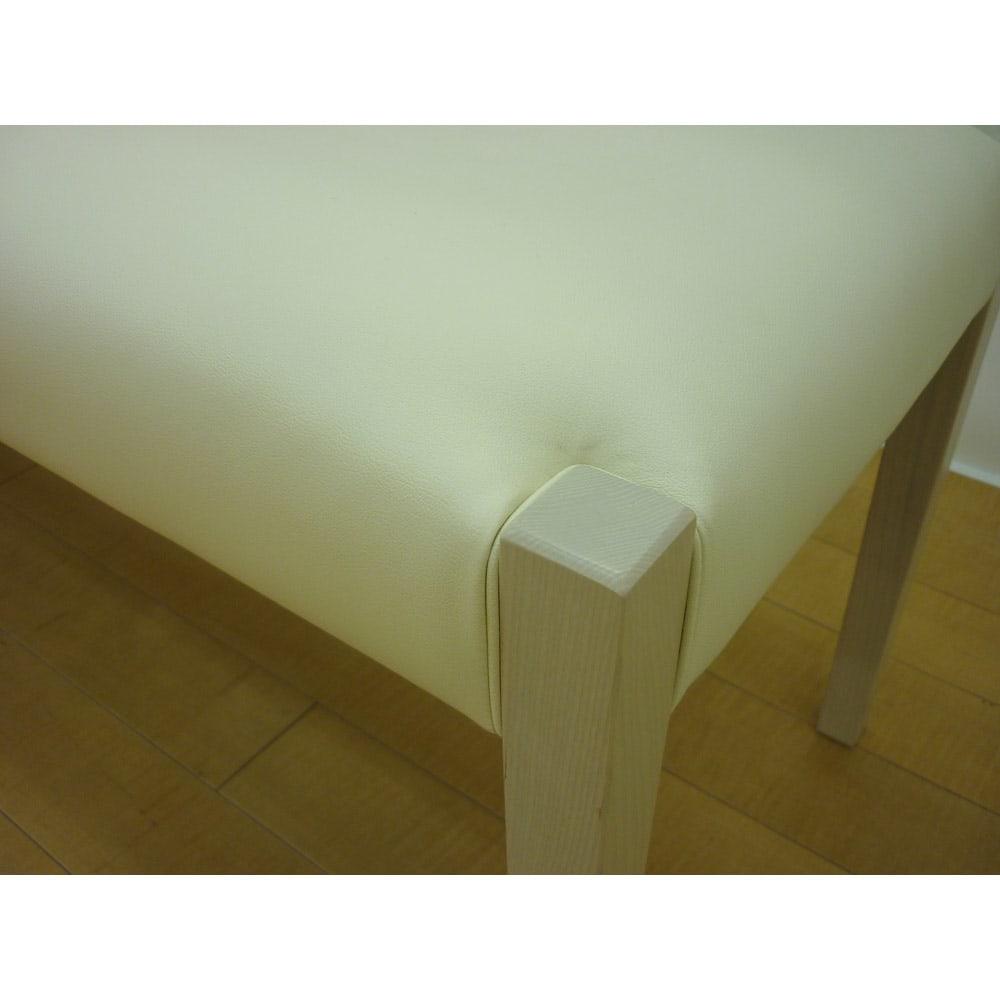 光沢が美しい 伸長式 モダン ダイニングシリーズ ベンチ 小 ふっくらとした座部も魅力的です。