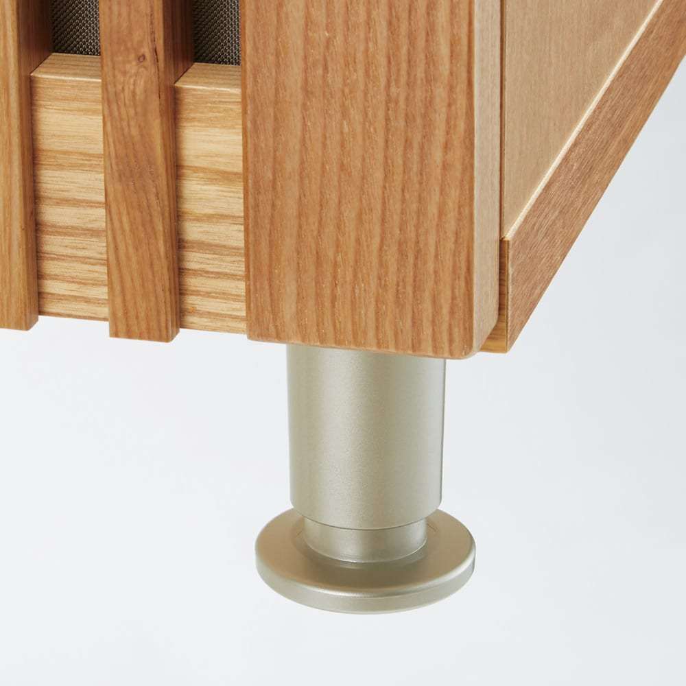 和モダン 格子 リビング収納 シリーズ テレビ台 幅100cm アジャスターで高さの微調節が可能。