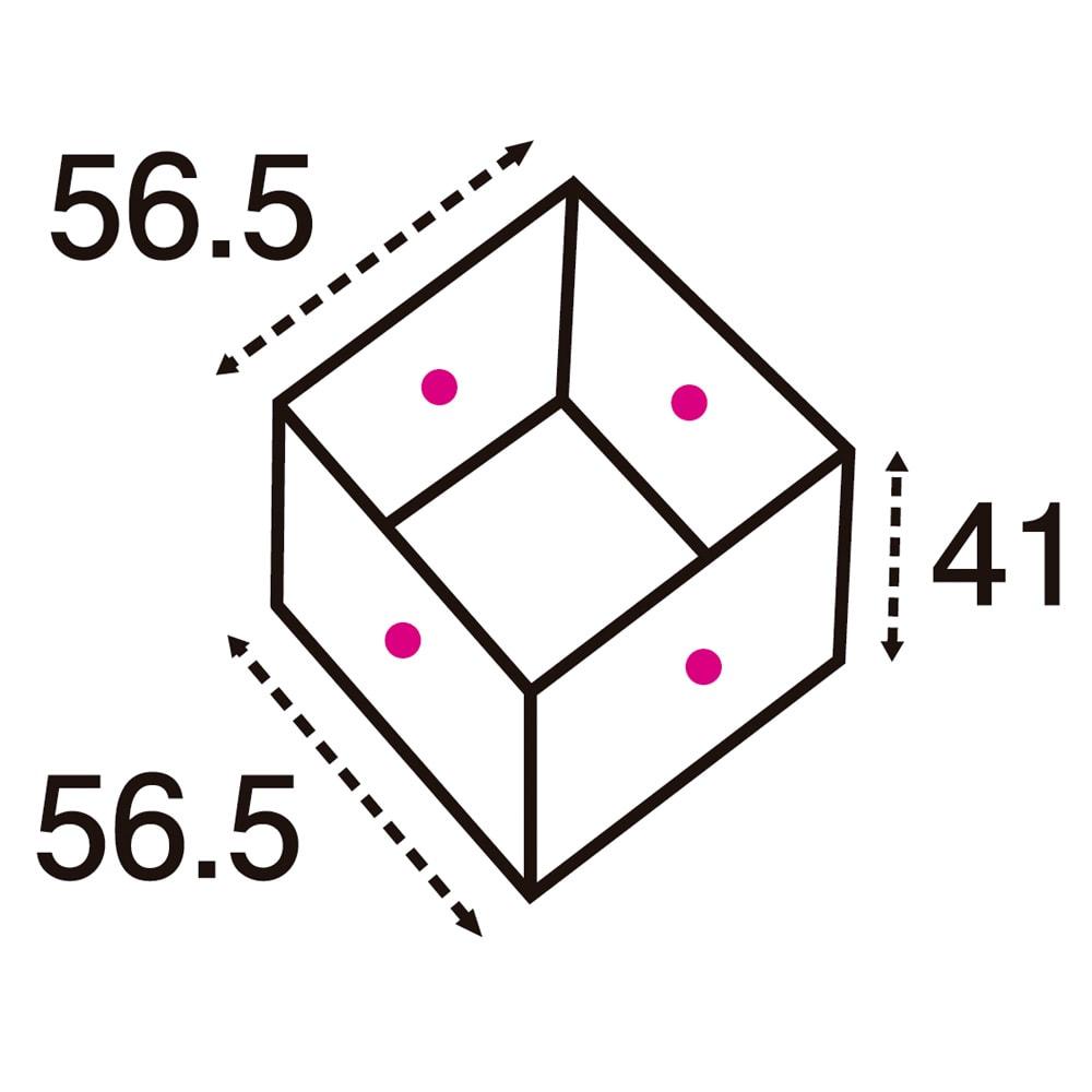 ユニット畳シリーズ 半畳 高さ45cm (単位:cm) 点線は有効内寸です。