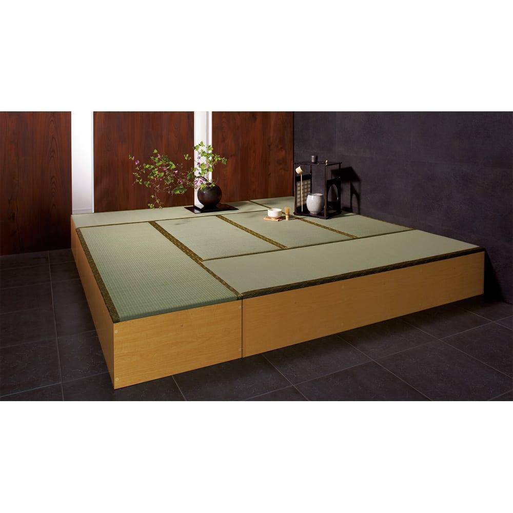 ユニット畳シリーズ お得なセット 6畳セット 幅180奥行240cm 高さ45cm 色見本 ※写真はお得な8畳セットになります。