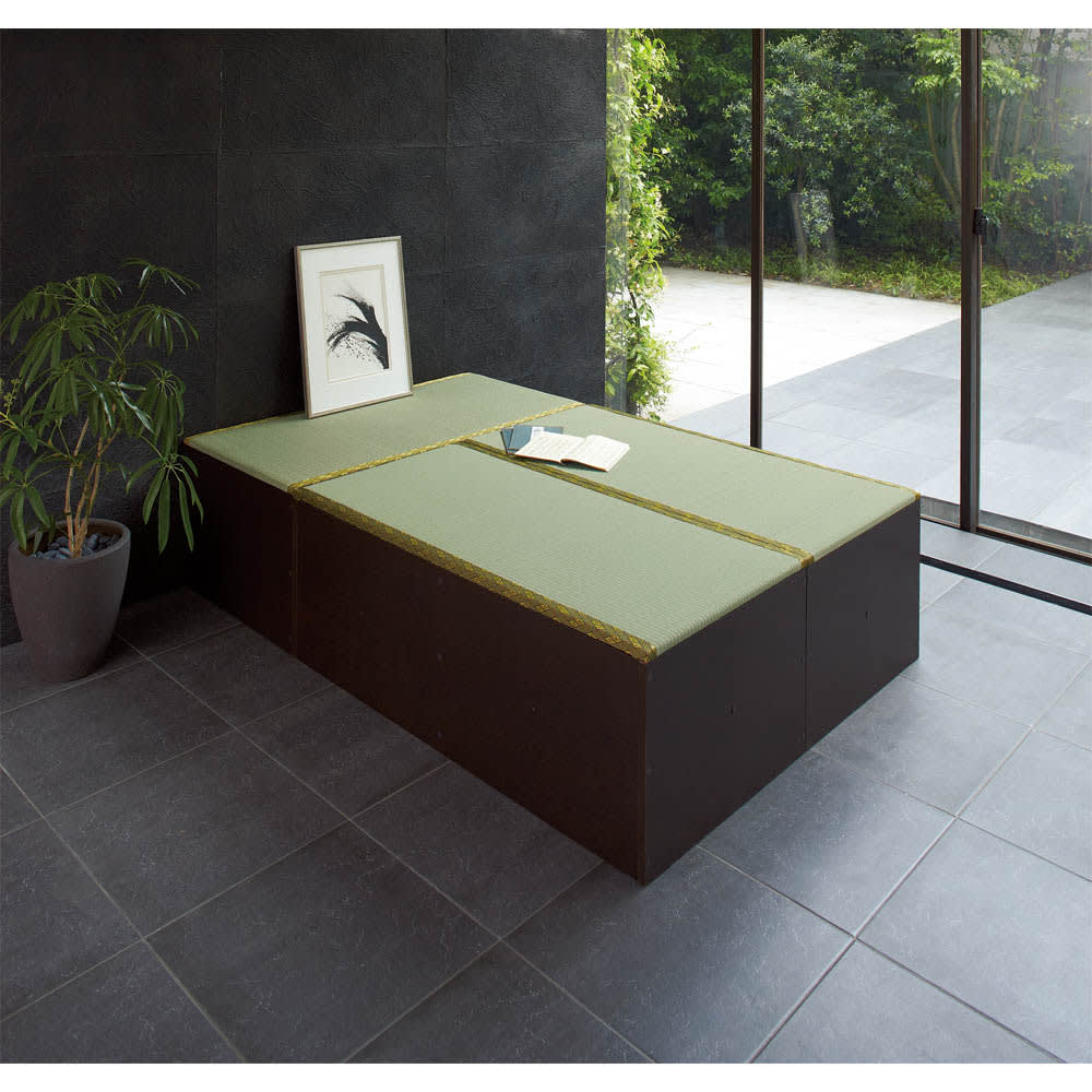 ユニット畳シリーズ お得なセット 6畳セット 幅180奥行240cm 高さ45cm 色見本 ※写真はお得な3畳セットになります。