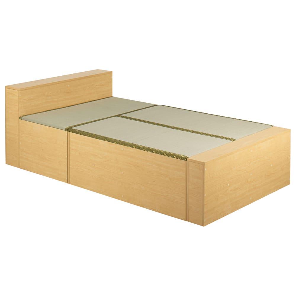 ユニット畳シリーズ ベッドセット 幅120奥行215cm 高さ45cm(本体高さ70cm) (イ)ライトブラウン