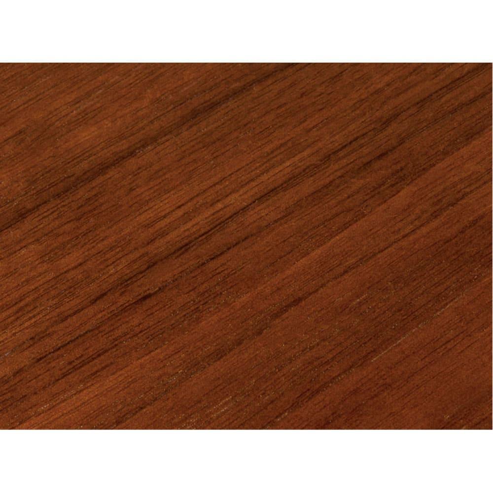高さ自由自在!カフェスタイルダイニング 丸形昇降テーブル単品・径110cm ダークブラウン ダークブラウンは木目が美しく高級感のあるウォルナット天然木突板を使用しています。