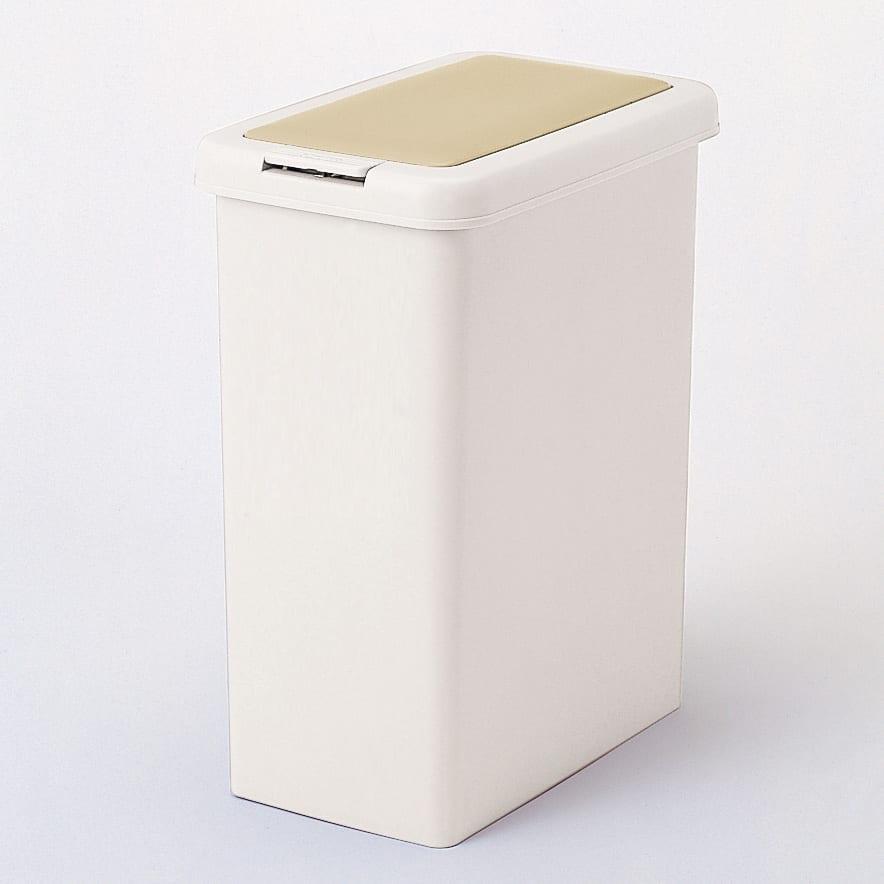 プッシュ式ごみ箱 26.5L (イ)ベージュ