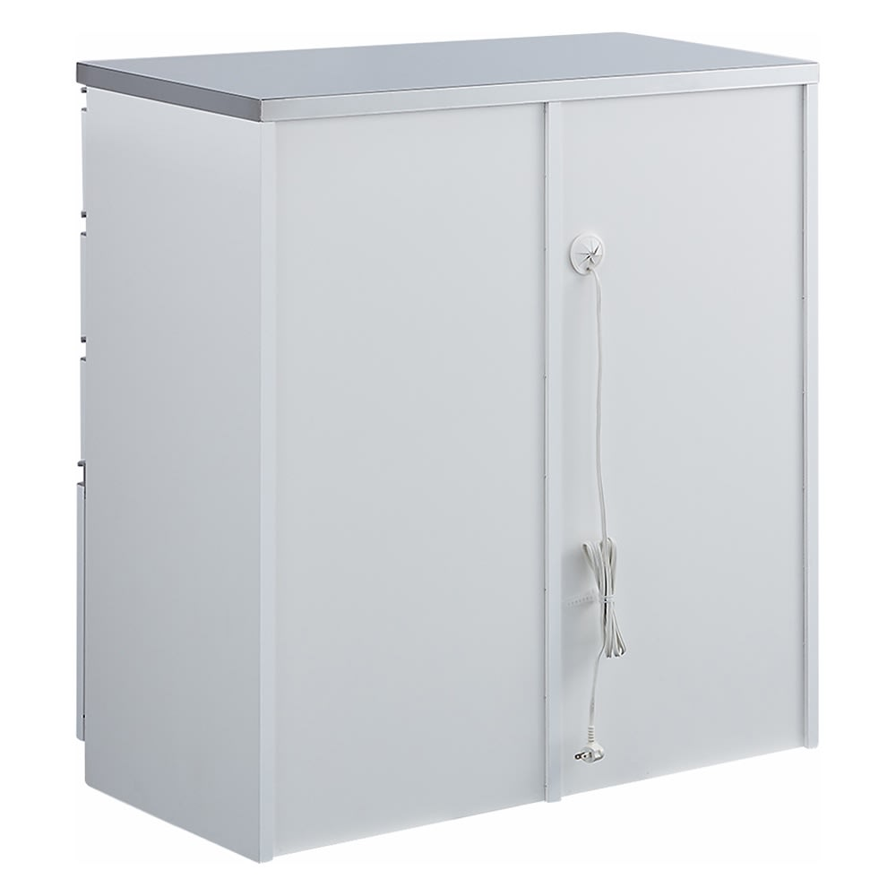 システムキッチンのようなステンレス天板カウンター 幅120.5cm (ア)ホワイト 背面 ※写真は幅90.5cmタイプです。