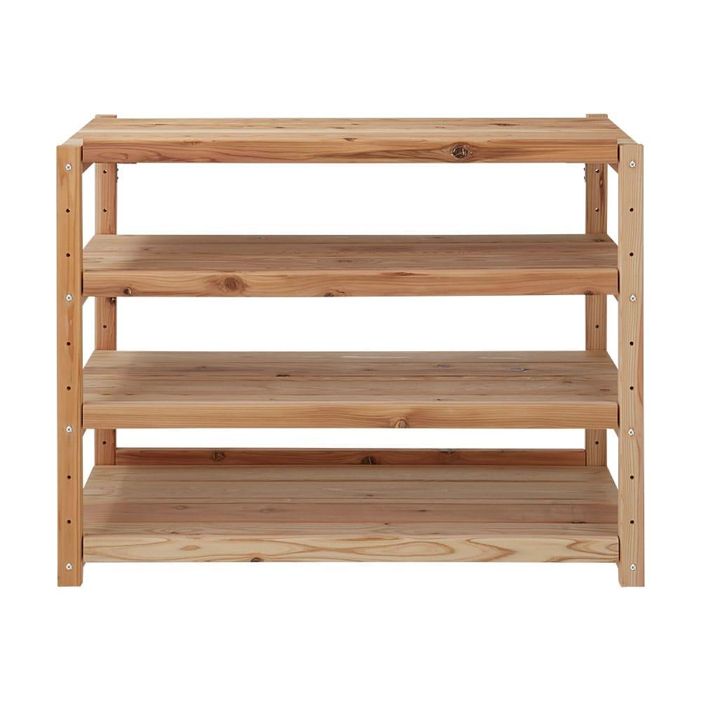 国産杉の飾るキッチンシリーズ キッチンラック・ロー 幅149奥行38cm お届けは【キッチンラック・ロー 幅149奥行38cm】です。