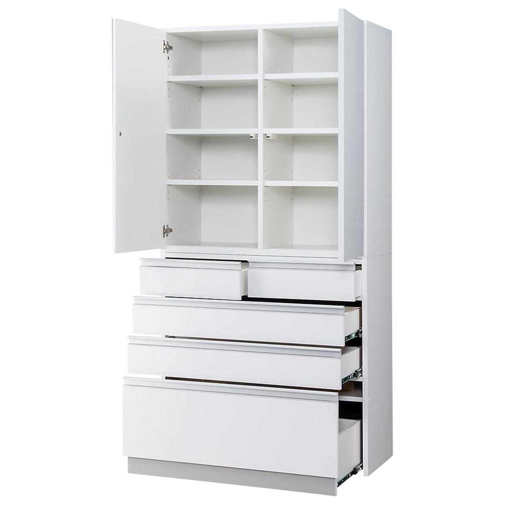 シンプルラインダイニングボードシリーズ 食器棚 幅88.5 高さ173.5cm お届けする商品です。