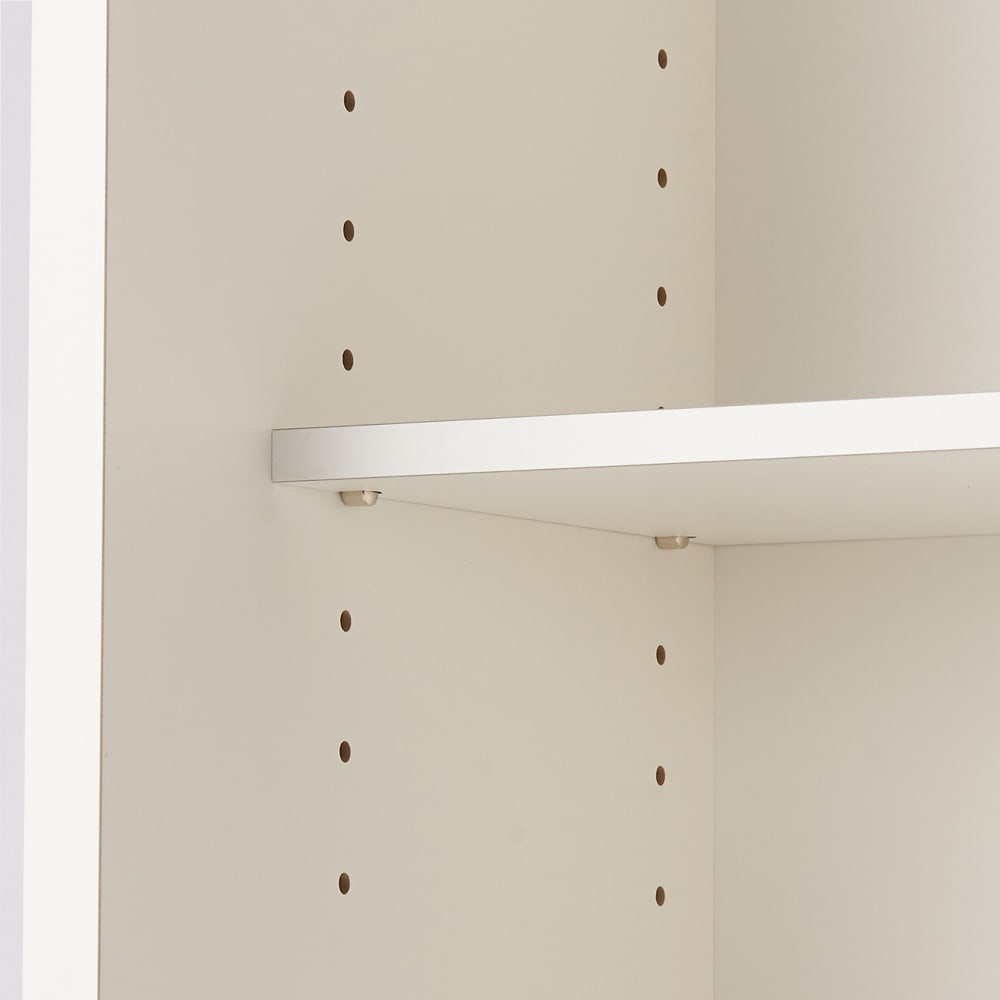 引き戸カウンター下収納庫 奥行23高さ70cmタイプ オープンラック・幅59.5cm 可動収納棚板は3cm間隔で調節が可能です。