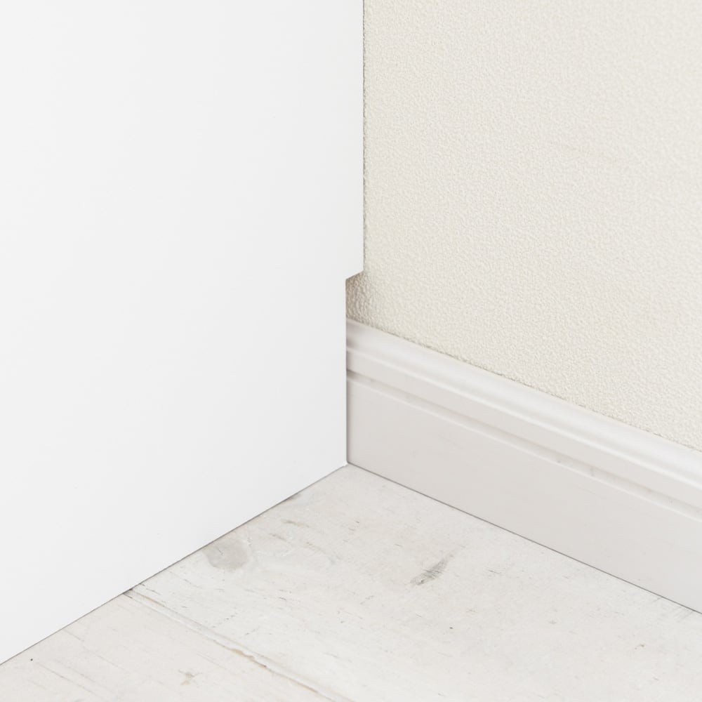 引き戸カウンター下収納庫 奥行29.5高さ87cmタイプ オープンラック・幅59.5cm 幅木よけ(8×1cm)付き