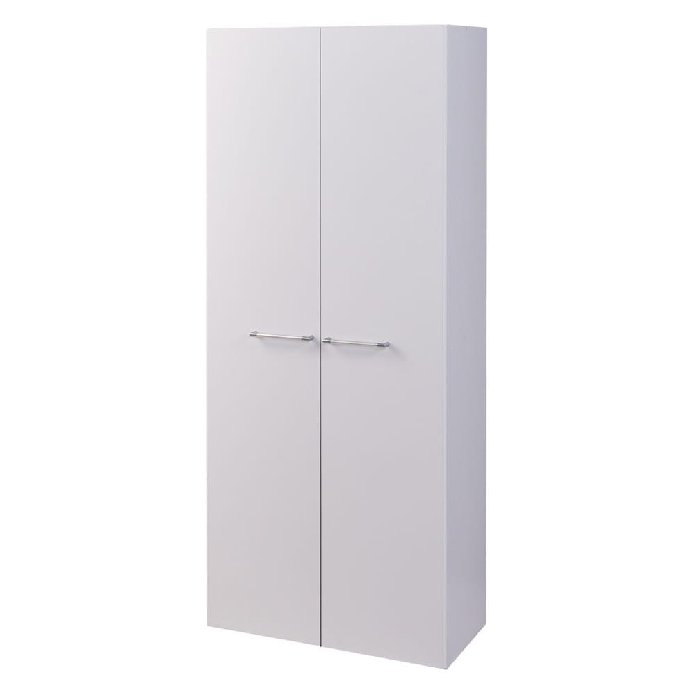 食器からストックまで入るキッチンパントリー収納庫 幅75奥行40cm (イ)ホワイト
