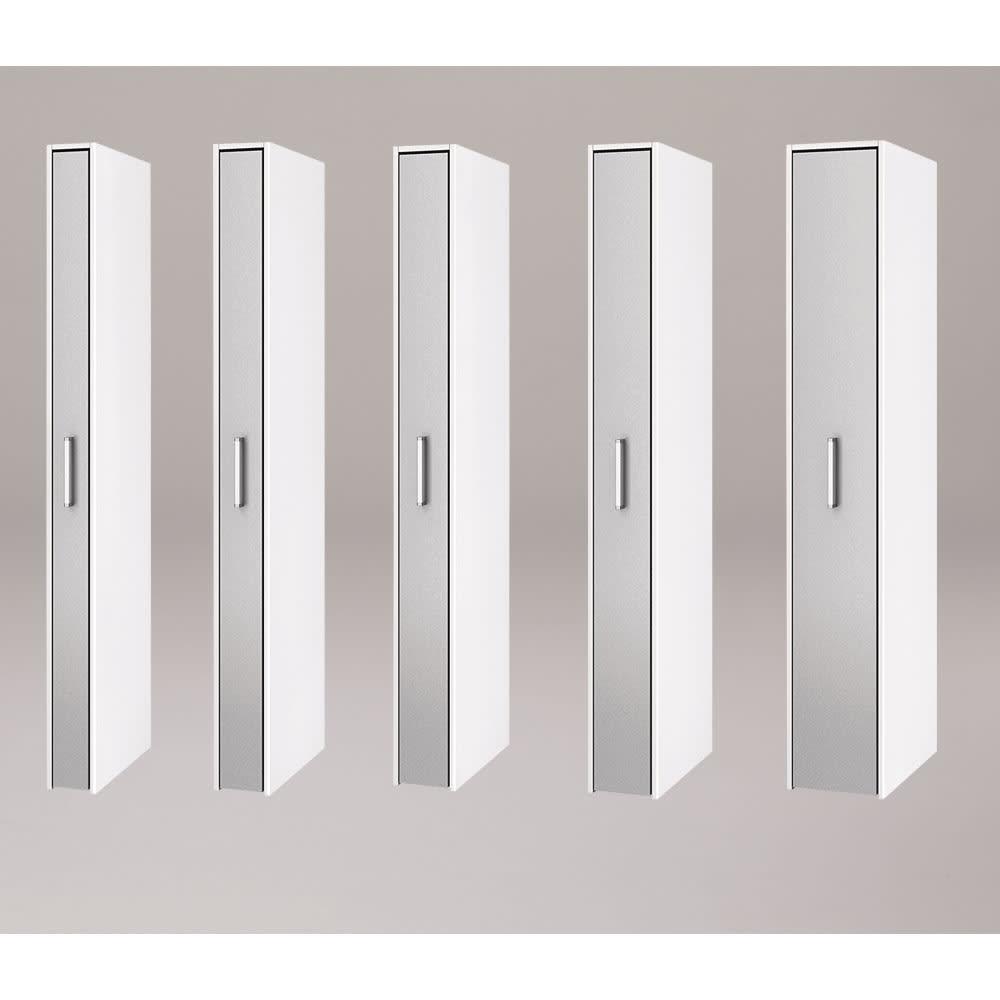 ボックス付きリバーシブル すき間収納庫 幅21奥行47cm シリーズは幅15、17、19、21、29cmの5タイプ 5サイズから選べます。 ※写真は奥行58cmタイプシルバー面使用時です。