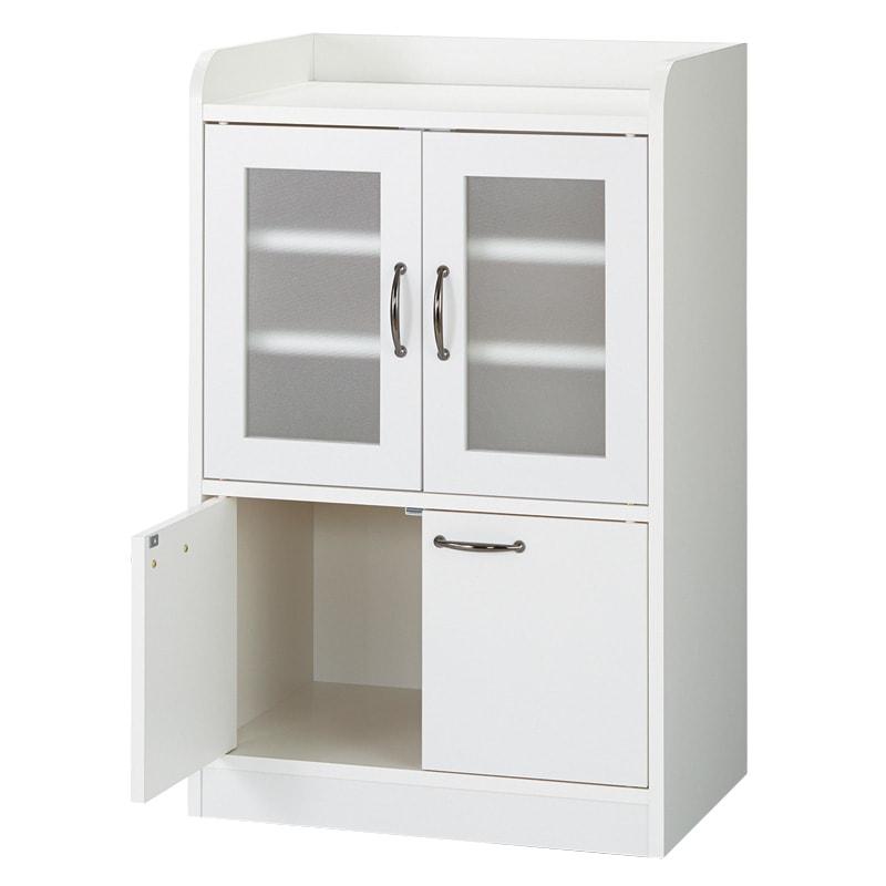 キッチン収納ミニ食器棚シリーズ キャビネット小(高さ90.5cm) (イ)ホワイト