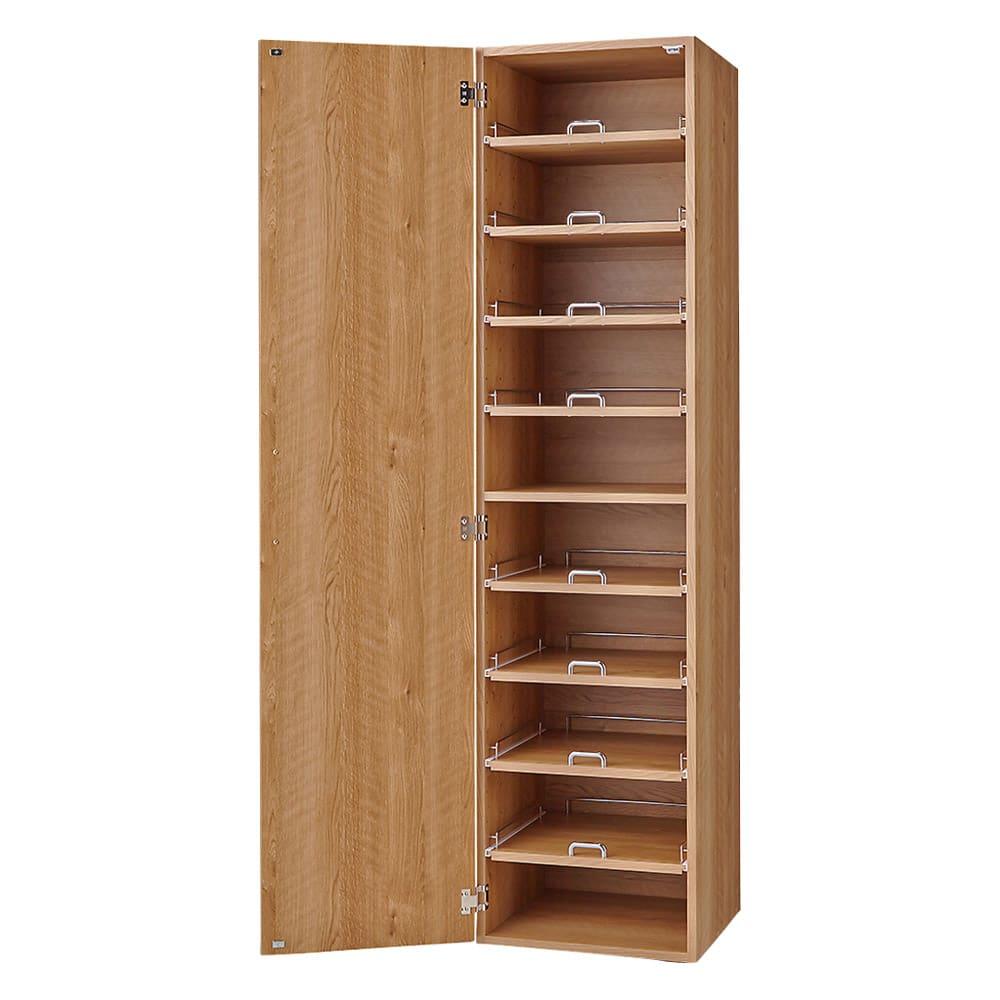 食器が探しやすく取り出しやすい食器棚 幅45cm (イ)ナチュラル