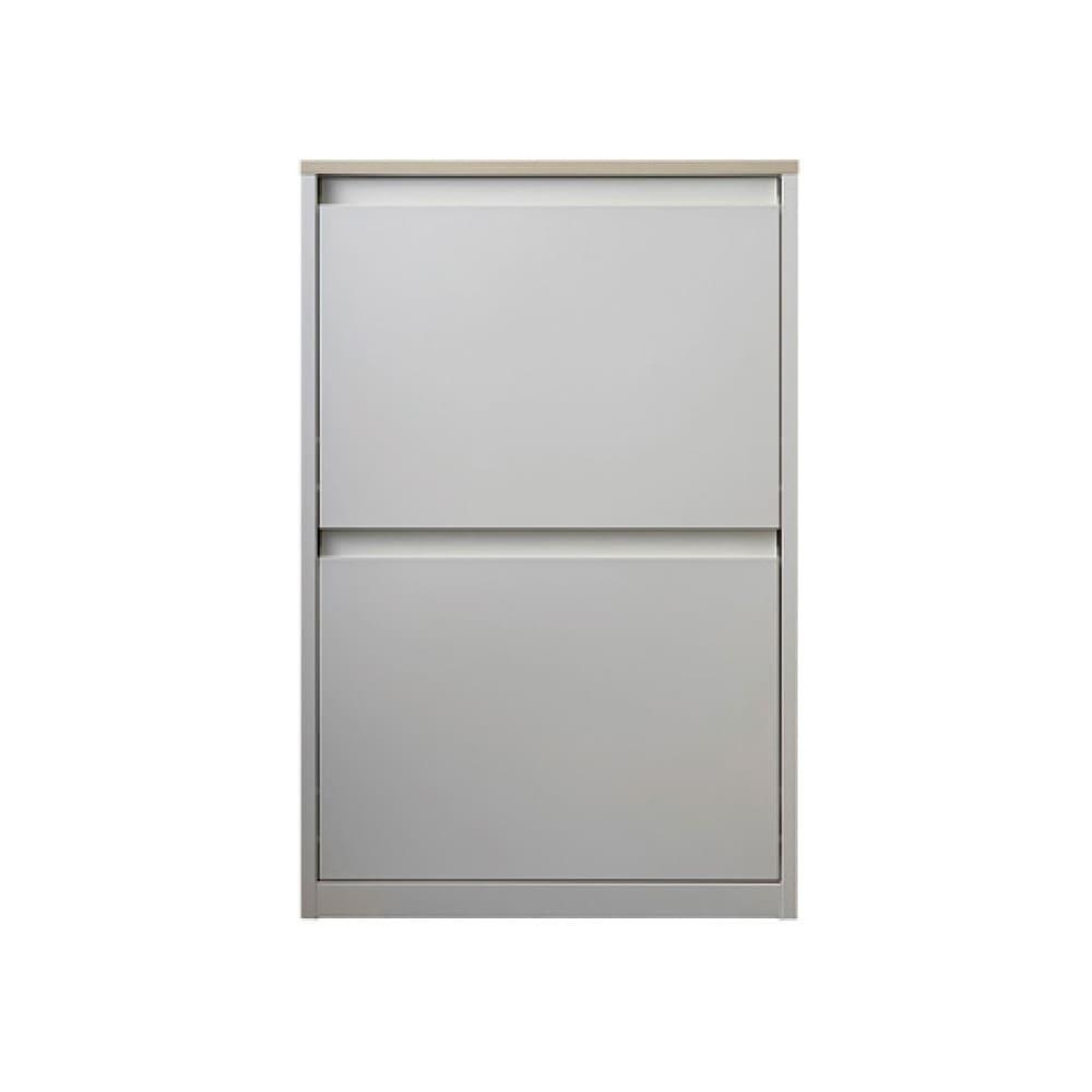 カラフルなペールでわかりやすく分別できる スチール製ダストボックス 幅60cm 高さ95cm (ア)ホワイト