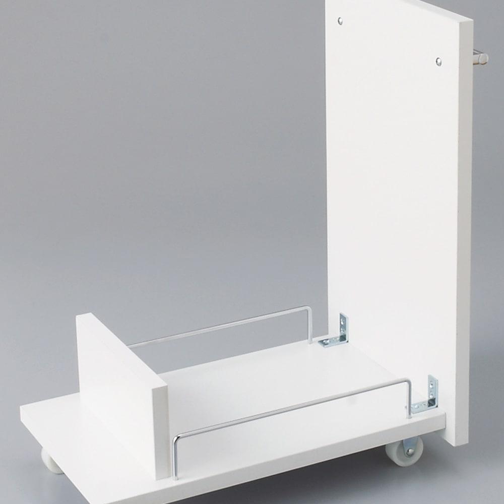 組立不要 キッチン分別タワーダストボックス 幅28.5cm スリム4分別 ゴミ箱タイプ ワゴン内側もお掃除がラクな化粧仕上げ。