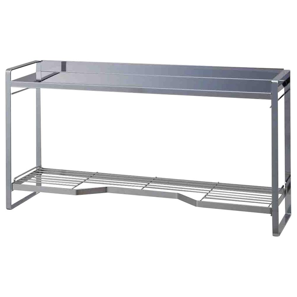 ステンレス棚板コンロ奥ラック 2段・幅67.5cm